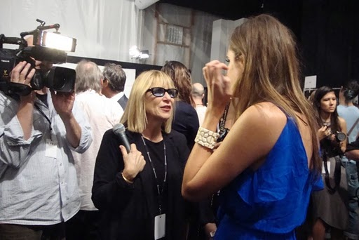 Elysze Held interviewing Louise Roe.