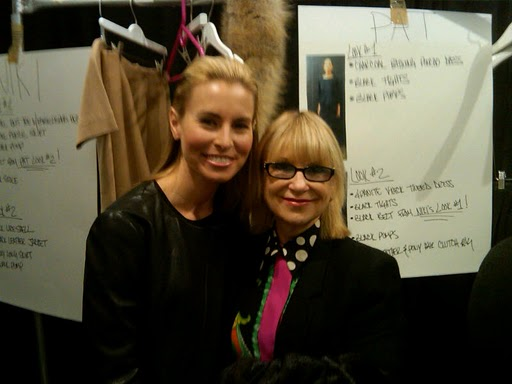 Elysze with Model Nikki Taylor at NY Fashion Week