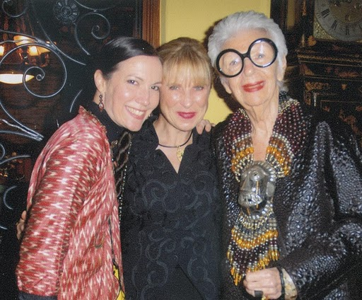 Iris Apfel and Adrienne bon Haes with Elysze