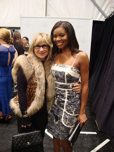 Elysze Held & Gabrielle Union, Backstage at Tracy Reese